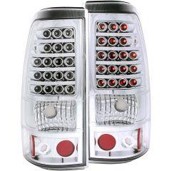 CHEVY SILVERADO 03-06 1500/2500 Series/ 04-07 1500,2500, 3500 Single Rear Wheels/   L.E.D TAIL LIGHTS CHROME