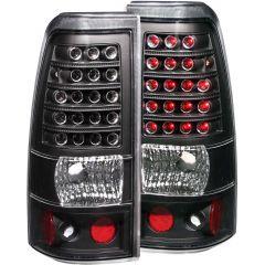 CHEVY SILVERADO 03-06 1500/2500 Series/ 04-07 1500,2500, 3500 Single Rear Wheels/   L.E.D TAIL LIGHTS BLACK
