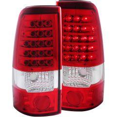 CHEVY SILVERADO 99-02 / GMC SIERRA 1500/2500 99-06 L.E.D TAIL LIGHTS RED/CLEAR