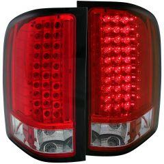 CHEVY SILVERADO 1500 07-13 / 2500HD/3500HD 07-14 L.E.D TAIL LIGHTS RED/CLEAR