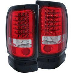 DODGE RAM 1500/2500/3500 94-01/ RAM SPORT MODEL 94-98 L.E.D TAIL LIGHTS RED/CLEAR