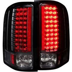 CHEVY SILVERADO 1500 07-13 / 2500HD/3500HD 07-14 L.E.D TAIL LIGHTS BLACK