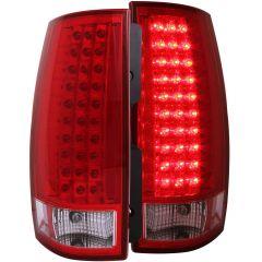 CHEVY TAHOE/SUBURBAN / GMC YUKON/XL/DENALI 07-13 L.E.D TAIL LIGHTS G3 RED/CLEAR