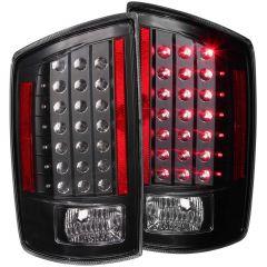 DODGE RAM 1500 06-08 / RAM 2500/3500 07-09 L.E.D TAIL LIGHTS BLACK