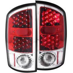 DODGE RAM 1500 02-05 / 2500/3500 03-06 L.E.D TAIL LIGHTS CHROME/RED