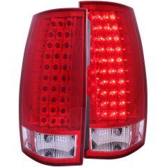 CHEVY TAHOE/SUBURBAN / GMC YUKON/XL/DENALI 07-13 L.E.D TAIL LIGHTS G4 RED/CLEAR
