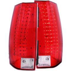 CHEVY TAHOE/SUBURBAN / GMC YUKON/XL/DENALI 07-14 L.E.D TAIL LIGHTS RED/CLEAR (ESCALADE LOOK)