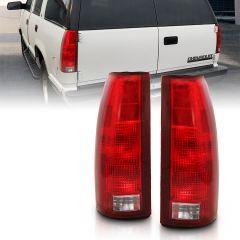 CHEVY/GMC C/K1500/2500/3500 88-99 / SUBURBAN 1500/2500 92-99 / YUKON/TAHOE 92-99 / BLAZER (FULL-SIZE) 92-94 / CADILLAC ESCALADE 99-00 TAILLIGHT RED/CLEAR LENS W/ CIRCUIT BOARD