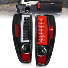 CHEVY COLORADO 04-10 LED TAIL LIGHTS BLACK (W/ C LIGHT BAR)