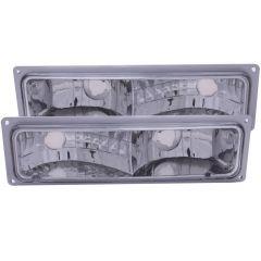 CHEVY/GMC C/K1500/2500 88-98 / C/K3500 88-00 / SUBURBAN 92-99 / BLAZER (full-size) 92-94 / TAHOE 95-99 / YUKON 92-99 EURO PARKING/SIGNAL LIGHTS CHROME CLEAR
