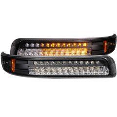 CHEVY SILVERADO 1500/2500 99-02 / 3500 01-02 / SUBURBAN/TAHOE 00-06 L.E.D PARKING/SIGNAL LIGHTS BLACK AMBER