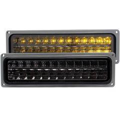 CHEVY/GMC C/K1500/2500 88-98 / C/K3500 88-00 / SUBURBAN 92-99 / BLAZER (full-size) 92-94 / TAHOE 95-99 / YUKON 92-99 L.E.D BUMPER LIGHTS SMOKE