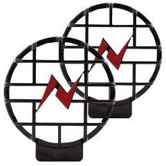 "6"" Anzo Lens Protector w/ Logo Black (Pair)"