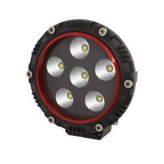"""4"""" Round LED Light  (RED BEZEL)"""