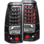 CHEVY SILVERADO 99-02 / GMC SIERRA 1500/2500 99-06 L.E.D TAIL LIGHTS BLACK