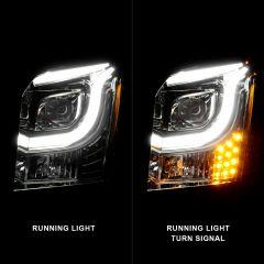 GMC YUKON/YUKON XL 15-17 PROJECTOR LIGHT BAR STYLE HEADLIGHTS CHROME CLEAR AMBER