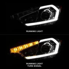 KIA FORTE 14-16 HEADLIGHTS CHROME (W/O LIGHTS BAR MODEL / W/O LED DRL)