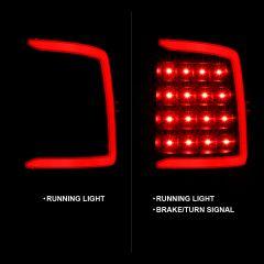 DODGE RAM 1500 09-18/ 2500 3500 10-18 LED TAIL LIGHTS BLACK HOUSING SMOKE LENS W/ C LIGHT BAR (NOT COMPATIBLE W/ ORIGINAL LED VERSION)