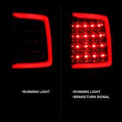 DODGE RAM 1500 09-18/ 2500 3500 10-18 LED TAIL LIGHTS CHROME HOUSING CLEAR LENS W/ C LIGHT BAR (NOT COMPATIBLE W/ ORIGINAL LED VERSION)