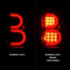 CHEVY TRAILBLAZER 02-09 LED TAIL LIGHTS CHROME HOUSING CLEAR LENS