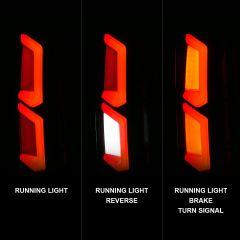 CHEVY TAHOE/SUBURBAN 15-20 LED TAIL LIGHTS BLACK HOUSING CLEAR LENS W/ C-LIGHT BAR