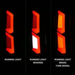 CHEVY TAHOE/SUBURBAN 15-20 LED TAIL LIGHTS BLACK HOUSING SMOKE LENS W/ C-LIGHT BAR