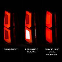 CHEVY TAHOE/SUBURBAN 15-20 LED TAIL LIGHTS ALL CHROME W/ C-LIGHT BAR