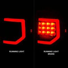TOYOTA TUNDRA 07-13 FULL LED TAIL LIGHTS W/ LIGHT BARS BLACK HOUSING CLEAR LENS