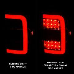 FORD RANGER 01-11 TAIL LIGHTS BLACK HOUSING CLEAR LENS W/C LIGHT BAR