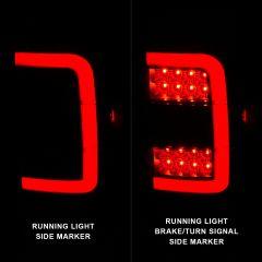 FORD RANGER 01-11 TAIL LIGHTS BLACK HOUSING SMOKE LENS W/C LIGHT BAR