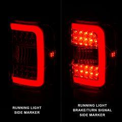 FORD RANGER 01-11 TAIL LIGHTS CHROME HOUSING CLEAR LENS W/C LIGHT BAR