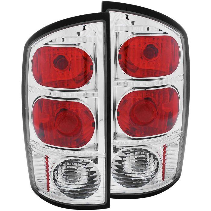 DODGE RAM 1500 02-05 / 2500/3500 03-06 TAIL LIGHTS CHROME/RED
