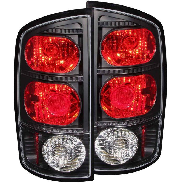 DODGE RAM 1500 02-05 / 2500/3500 03-06 TAIL LIGHTS BLACK