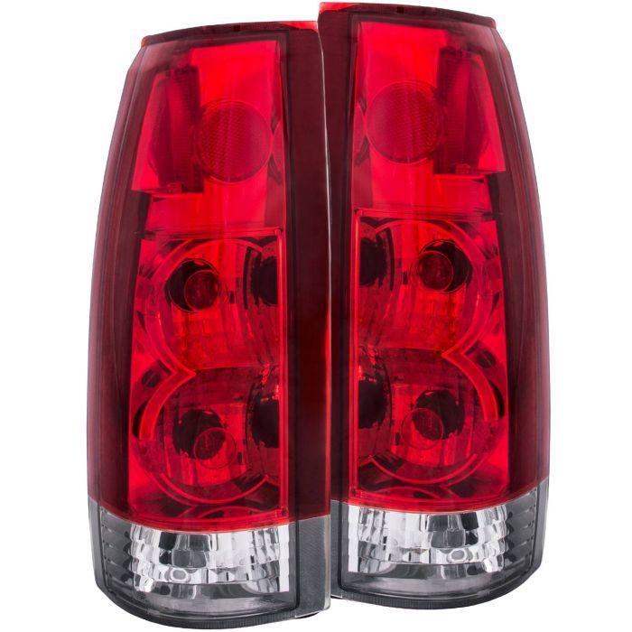 CHEVY/GMC C/K1500/2500 88-98 / C/K3500 88-00 / SUBURBAN 92-99 / BLAZER (full-size) 92-94 / TAHOE 95-99 / YUKON 92-99 TAIL LIGHTS RED/CLEAR NEW VERSION