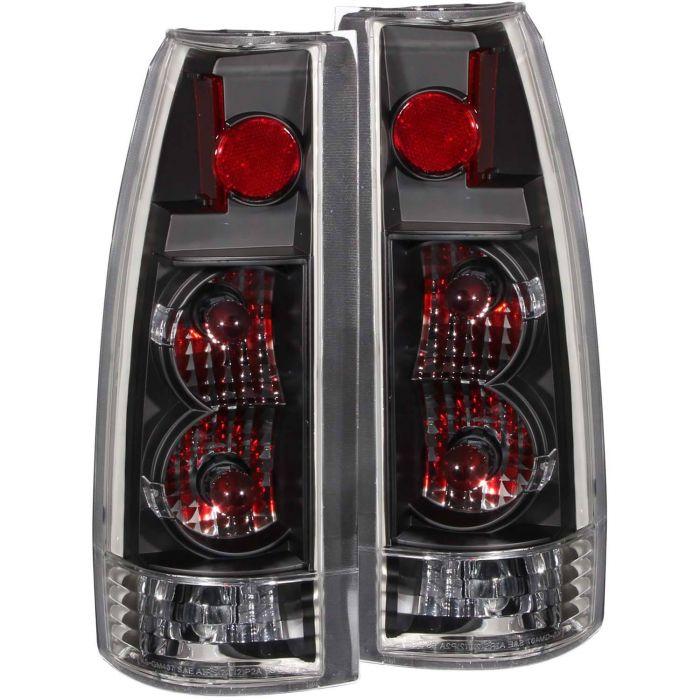 CHEVY/GMC C/K1500/2500 88-98 / C/K3500 88-00 / SUBURBAN 92-99 / BLAZER (full-size) 92-94 / TAHOE 95-99 / YUKON 92-99 / ESCALADE 99-00 TAIL LIGHTS BLACK NEW VERSION