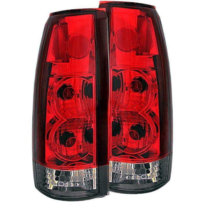 CHEVY/GMC C/K1500/2500 88-98 / C/K3500 88-00 / SUBURBAN 92-99 / BLAZER (full-size) 92-94 / TAHOE 95-99 / YUKON 92-99 TAIL LIGHTS RED/SMOKE G2