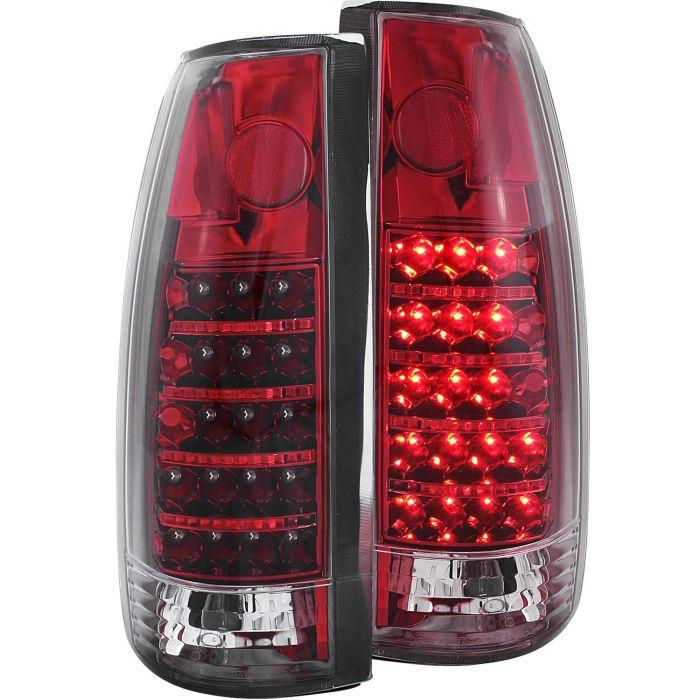 CHEVY/GMC C/K1500/2500 88-98 / C/K3500 88-00 / SUBURBAN 92-99 / BLAZER (full-size) 92-94 / TAHOE 95-99 / YUKON 92-99 L.E.D TAIL LIGHTS RED/CLEAR G2