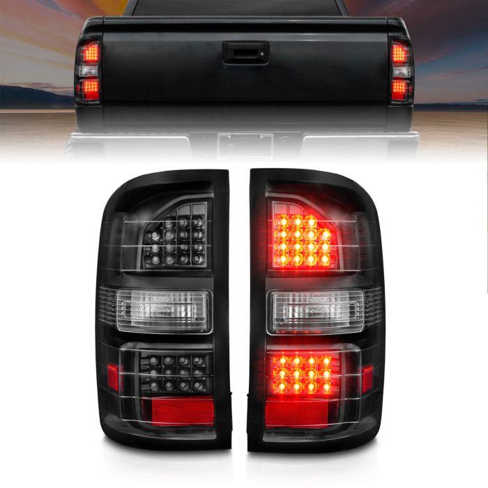 GMC SIERRA 14-17 LED TAIL LIGHTS BLACK (NON-OEM LED ONLY)
