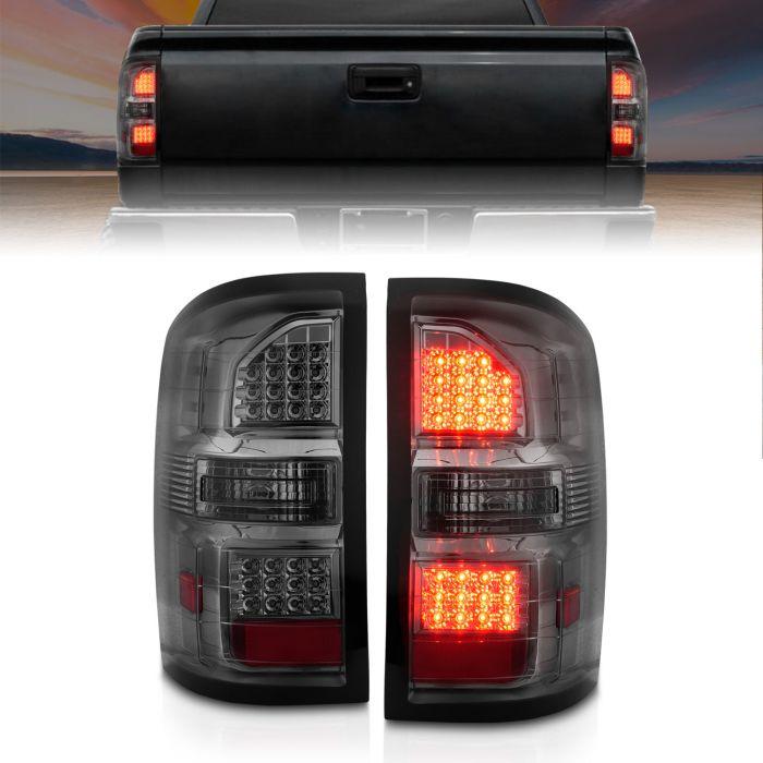 GMC SIERRA 14-17 LED TAIL LIGHTS SMOKE (NON-OEM LED ONLY)