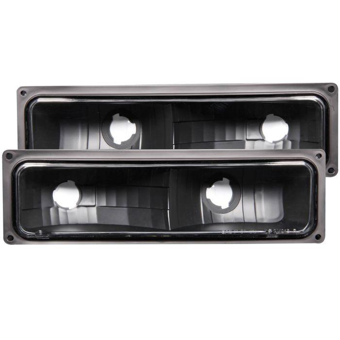 CHEVY/GMC C/K1500/2500 88-98 / C/K3500 88-00 / SUBURBAN 92-99 / BLAZER (full-size) 92-94 / TAHOE 95-99 / YUKON 92-99 EURO PARKING/SIGNAL LIGHTS CLEAR BLACK